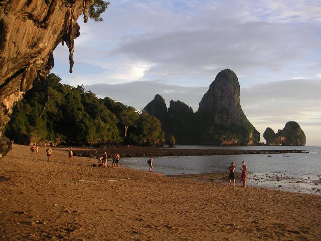 Le spot depuis la plage…